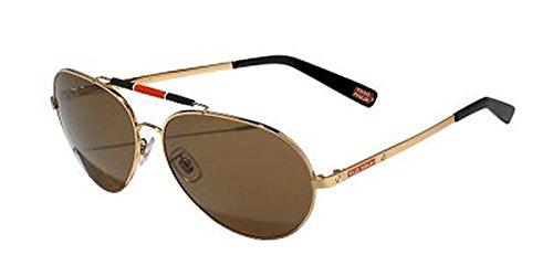 Mille Miglia by Chopard Aviator Sunglasses SMMA09 H16P Gold/Black Polarized - Sunglasses Miglia Chopard Mille