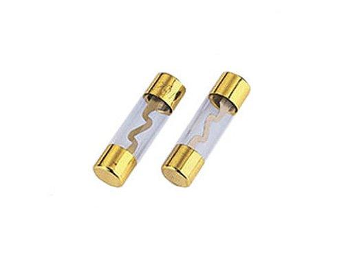 Hama Glassicherungen (KFZ Feinsicherung, 10 x 38mm, 40A) 2 Stü ck, vergoldet 00042617