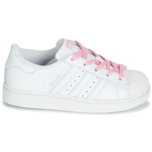 C Superstar Blanco Pink Unisex Gimnasia light Niños ftwr Adidas ftwr Zapatillas Pink White White De Ftwr R5a0wxqqd