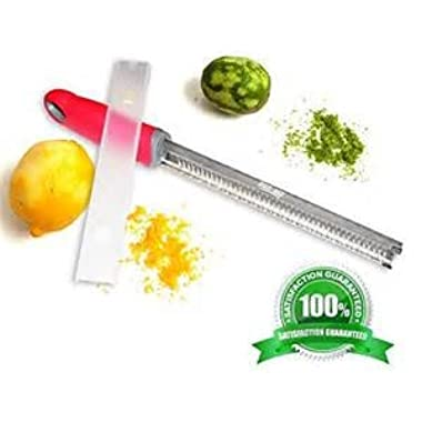 Flash - Best Micro Grater Zester For Citrus Cheese Spices Lemons Limes Oranges Cheese Garlic Spices Ginger Nutmeg Chocolate Heavy Duty Stainless Steel Cover