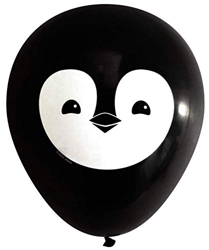 (Nerdy Words Penguin Latex Balloons (16 pcs) Black)