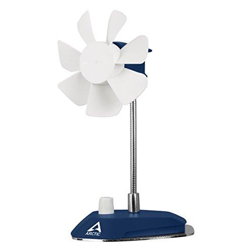 ARCTIC A0234/B0056 Breeze - USB Desktop Fan with Flexible Neck and Adjustable Fan Speed I Portable Desk Fan for Home, Office I Silent USB Fan I Fan Speed 800-1800 RPM - Deep Blue