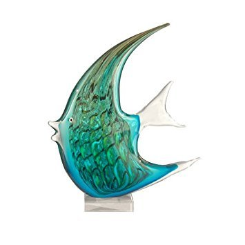 Dale Tiffany Art Glass Angel Fish Figurine