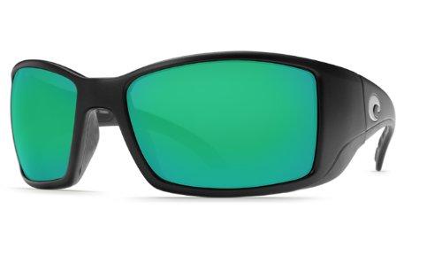 Costa Del Mar Blackfin 580G Polarized Sunglasses in Black & Green Mirror - Blackfin 580 Costa