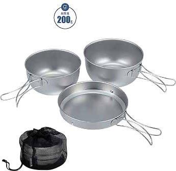 (Snow Peak Titanium Cookware (3-Piece))