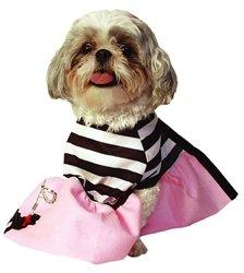 Doggiduds Poodle Girl Costume Large (Pink Poodle Dog Halloween Costume)