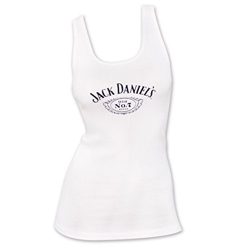 Jack Daniels Women's Daniel's White Old No. 7 Logo, used for sale  Delivered anywhere in USA