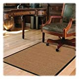Deflect-O Band Sisal Chair Mat, Hard Floor, 46 by 60-Inch, Light Brown