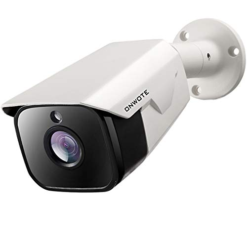 ONWOTE 4K 8MP IP PoE Security Camera Outdoor, H.265 ONVIF, 3864x 2160 8.51 Megapixels UltraHD, 131ft Night Vision, 100? Viewing Angle, IP66 Waterproof, Remote Access