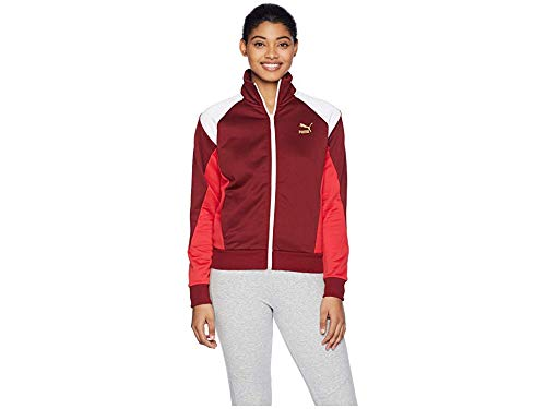 PUMA Women's Retro Track Jacket, Pomegranate, S