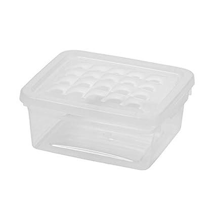 Curver Caja para Ropa y Textil del Hogar 33L - Con Tapa Color Cristal