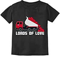 Tstars - Valentines Day Dump Truck Loads of Love Toddler Kids T-Shirt