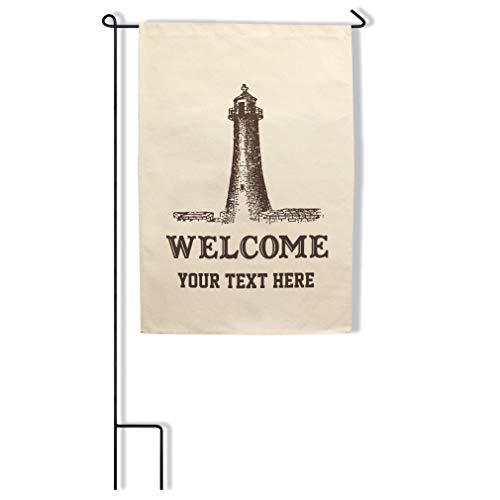 Style In Print Custom Home Decor Garden Flag Lighthouse Memorial Welcome... Cotton Canvas Outdoor & Patio Decor 18x27 Inches Flag & Pole Set