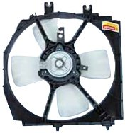 Replacement Mazda Fan Shroud - TYC 600490 Mazda Replacement Radiator Cooling Fan Assembly