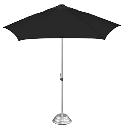 "StrombergBrand ""The Café Market"" Vented Patio Umbrella, Commercial Quality, Patented Construction, Black by StrombergBrand"