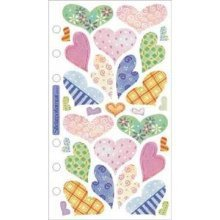 EK Success Sticko Vellum Pastel Hearts #458