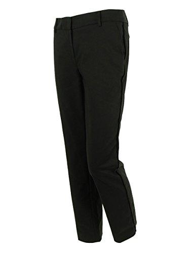 Jones New York Women's Pipe Detail Dress Pants (2P, Black)