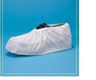 Polyethylene water proof embossed Shoe Covers White, Large (case) by Keystone (Image #1)