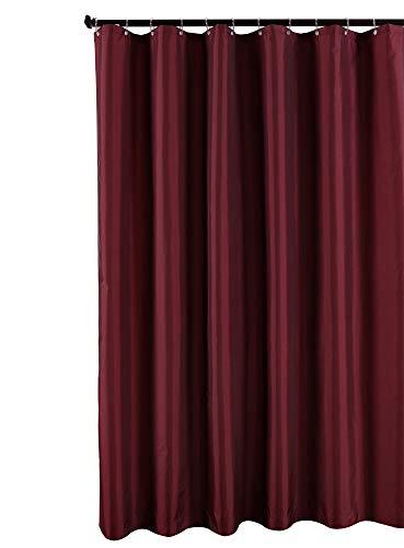 Biscaynebay Fabric Shower Curtain Liner, Water Resistant Bathroom Curtain Liner, 72 X72, Burgundy (Burgundy Bathroom Curtains)