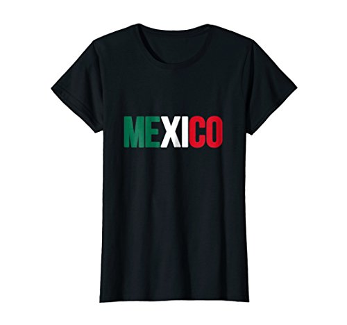 5bf7fe4fa39666 Womens Mexico T-shirt Mexican Flag Soccer Football Fan Jersey XL Black