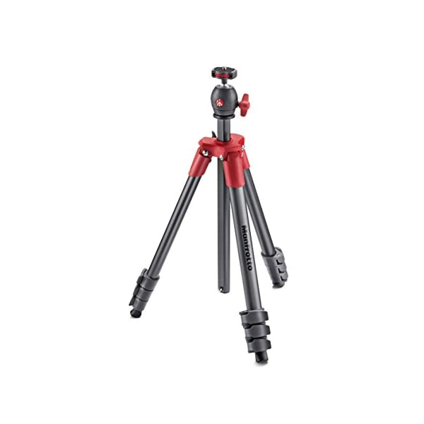 Manfrotto-MKCOMPACTLT-RD-Compact-Tripod-Red