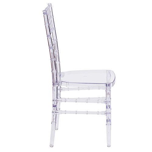 Amazon.com: 4 Pack Crystal Clear Chiavari Chairs by Banquet Tables Pro: Kitchen & Dining