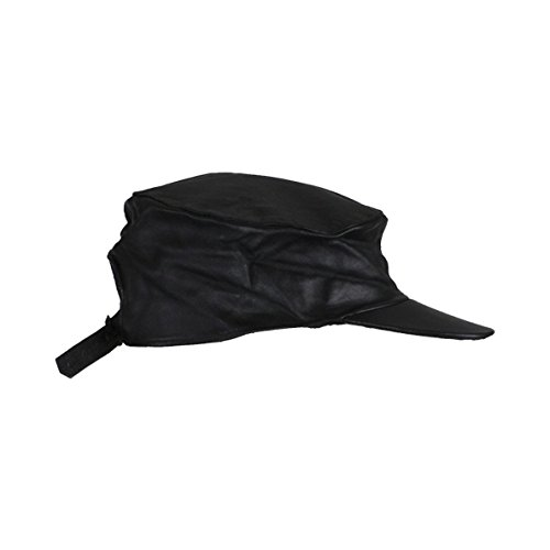 Leather Motorcycle Cap - 5