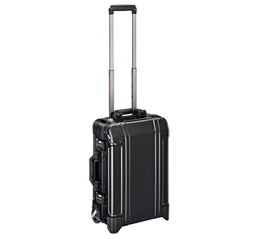 Zero Halliburton Geo Aluminum 3.0 Carry-on 2 Wheel Travel Case ZRG2520 (BLACK) ()