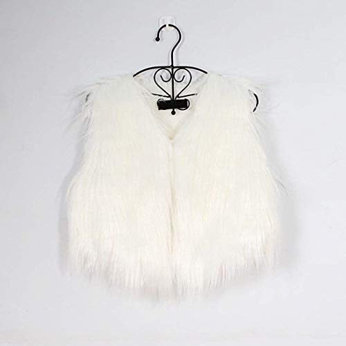Talla Mujer Elegantes Corto cuello Piel V Blanco Mangas Fashion Huixin Unicolor Grande Sin Invierno Otoño Hipster Abrigos Sintética Chaqueta De Chaleco qtU4w4Ia