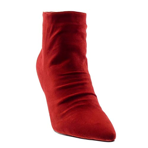 high Red Women's 9 cm Cone Fancy Booty Chic Ankle Heel Angkorly Fashion Boots Shoes OznFqB