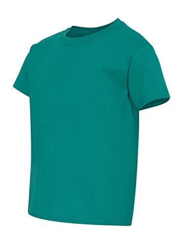Gildan Youth Heavy Cotton T-Shirt, Tropical Blue, Large - Gildan Youth Short