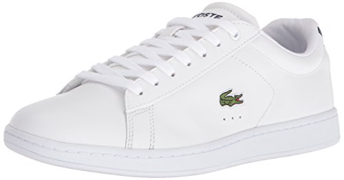 Lacoste Women's Carnaby Evo BL, White/Navy, 7 M US