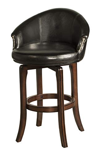 Hillsdale Dartford Swivel Counter Stool Black Vinyl Swivel Counter Stool