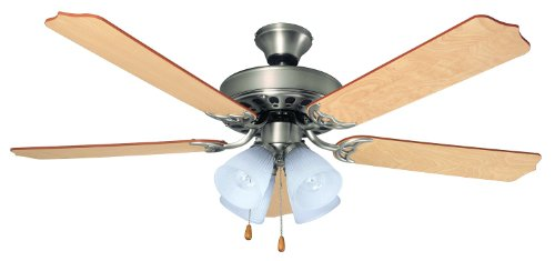 Bala 103646 Quick Connect Ceiling Fan with Light 52-Inch, Nickel by Bala