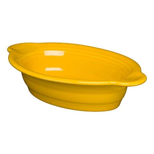Homer Laughlin 587-342 9' x 5' Individual Oval Casserole, Daffodil