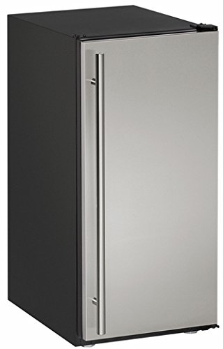 "U-Line UADA15IMS00B 15"" Built-in Crescent Ice Maker, Black"