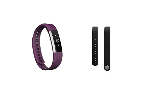 Fitbit Alta (Plum, Small) + Accessory Band (Black, Small) by Fitbit