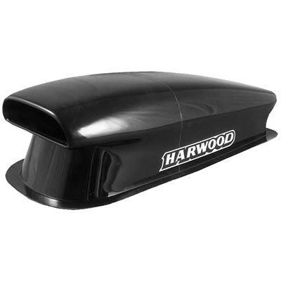 (Harwood 3160: Hood Scoop, Aero I, 40 1/2 in. Long, 17 1/2 in. Wide, 12 in. Tall, Fiberglass, Black Gelcoat, Each)