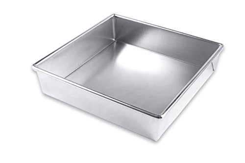 Commercial Brownie Pan (USA Pan Bare Aluminum Bakeware 1130RC-BB Square Cake Baking Pan Warp-Resistant, Rust-Proof Bakeware)