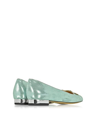 CHARLOTTE OLYMPIA FEMME P1648441167 ARGENT SUÈDE BALLERINES