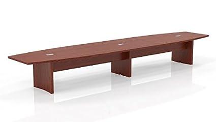 Amazoncom Mayline Boat Shaped Conference Table Overall - Boat shaped conference table dimensions