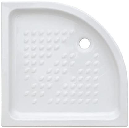 Plato ducha semicircular 80 x 80 de cerámica: Amazon.es: Bricolaje ...