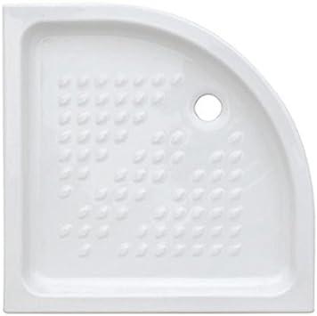 Plato ducha semicircular 80 x 80 de cerámica: Amazon.es: Bricolaje y herramientas