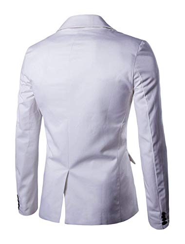 Tempo Uomo White Bottone Singolo Bavero Size Manica Primavera Giacche Alla 1 Comodo Collo Slim Fit Da Autunno color Il Lunga Battercake M Giacca Moda A Per nbsp;giacca Suit Libero vq0nawxx4A