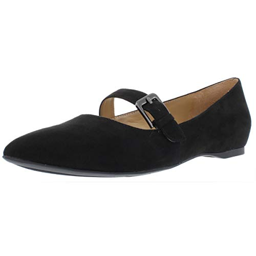 Naturalizer Womens Truly Faux Suede Pointed Toe Mary Janes Black 6 Medium (B,M)