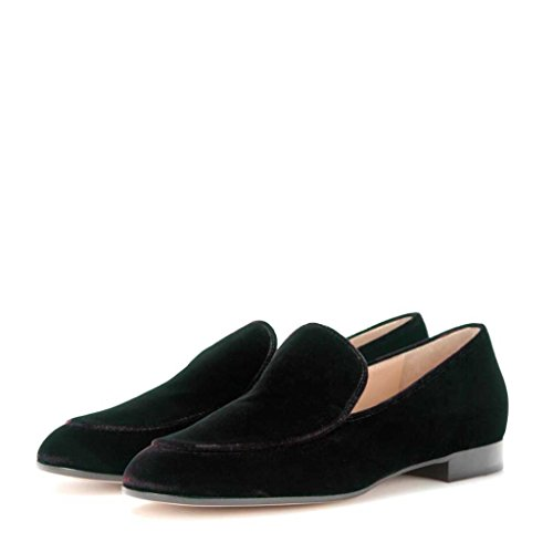 Size Men Suede Loafers Jayjii Fashion Slip Flats Black Shoes 10 On Casual US 5 Nancy SFqnZxPff
