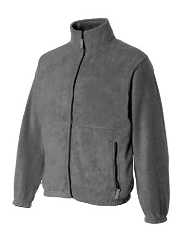Sierra Pacific Adult Anti-Pill Fleece Full-Zip Jacket (Heather Grey) (L)