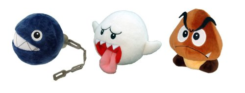 Sanei Electric Set of 3 Super Mario Plush Doll - Chain Ch...
