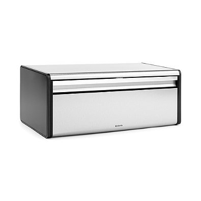 Brabantia Fall Front Fingerprint-Proof Bread Box in Matte Steel by Brabantia