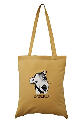 bag Jack 'CUTE' shopping cotton Jack russell russell aq8OY